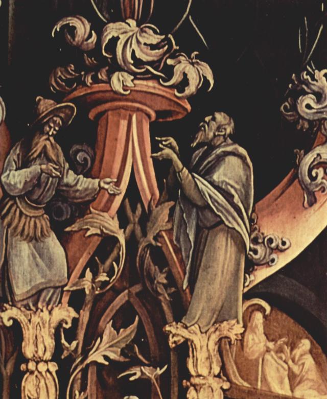 Ieremia în dreapta şi Ezechiel în stânga