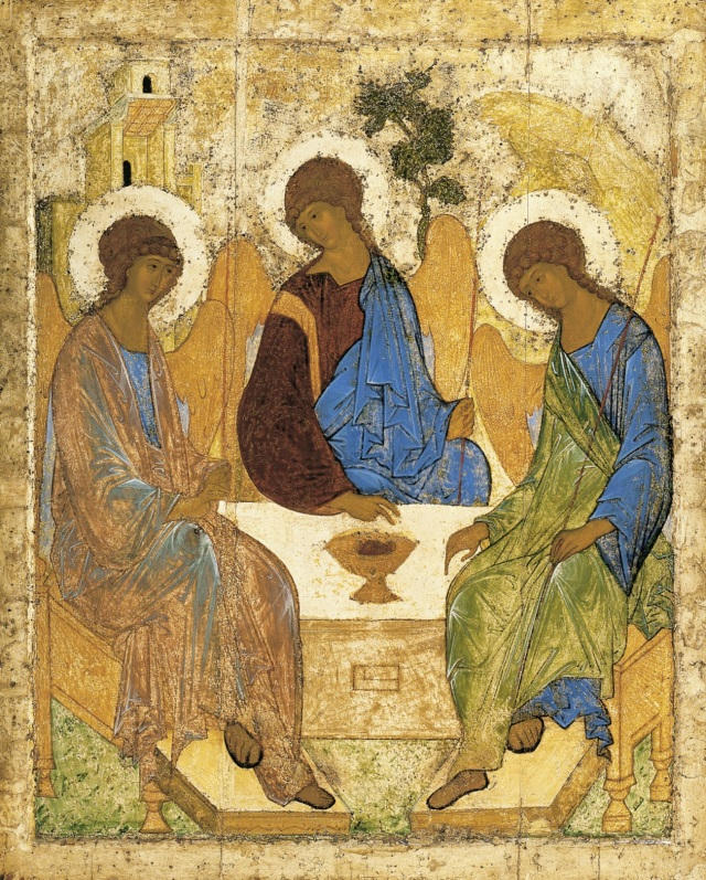 Pictura Sfânta Treime executată de Andrei Rubliov